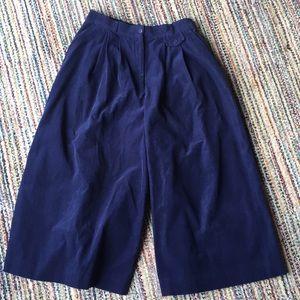 VINTAGE super wide fine wale cord culottes